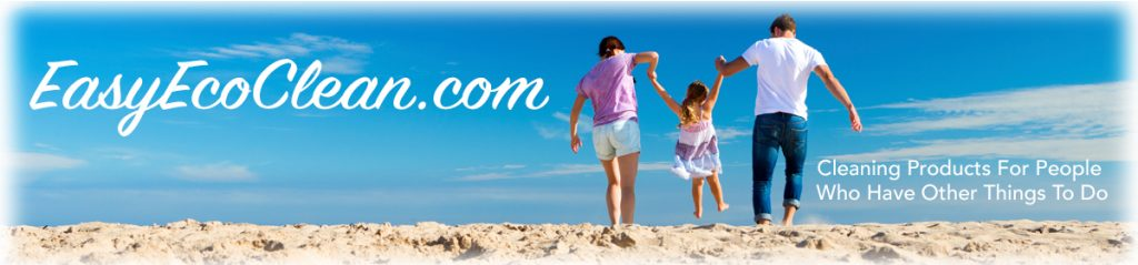 Walking the beach because with products from EasyEcoClean.com your cleaning problem is solved and you can do other things