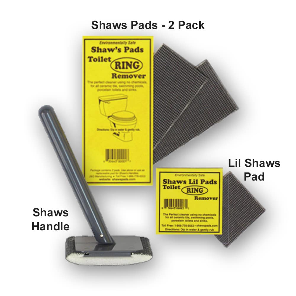 Shaws Pads come in three different designs: Shaws Handle, Lil Shaws Pad, and Shaws Replacement Pads