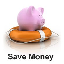 Piggy Bank in Life Ring - you Save Money by using cleaning products from EasyEcoClean