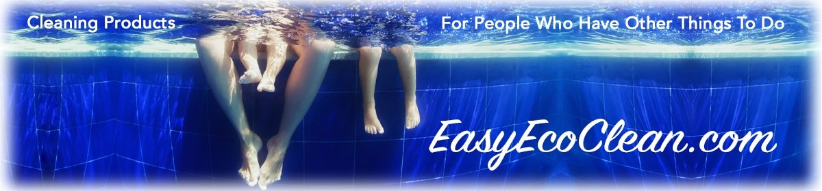 Family Swimming because with products from EasyEcoClean.com they can do other things