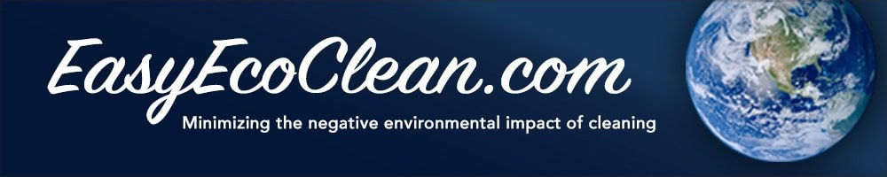 "EasyEcoClean.com View of Earth from outer space with statement ""Minimizing the negative environmental impact of cleaning"""