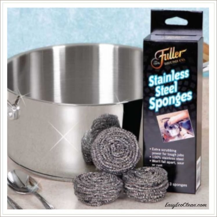 Fuller Brush stainless steel sponges with cookware