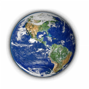 Picture of a healthy earth indicating that products from EasyEcoClean.com help safeguard our environment