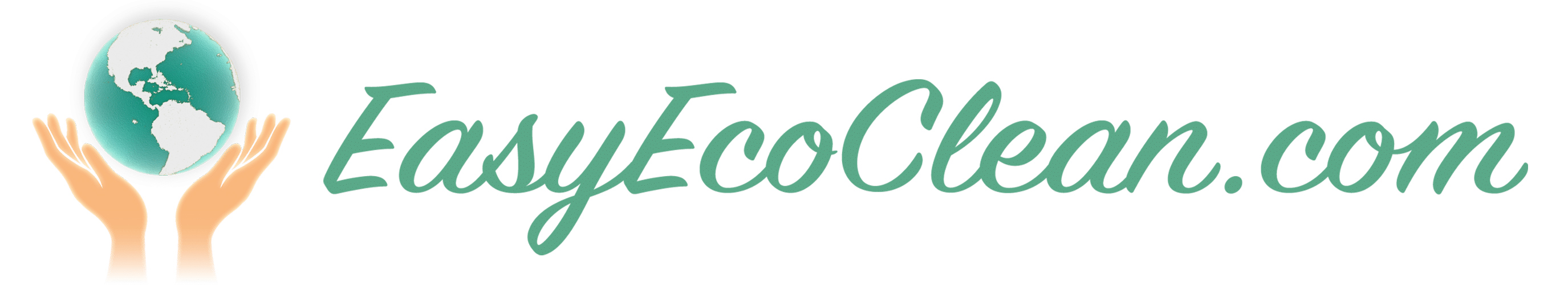 EasyEcoClean logo with hands gently holding earth