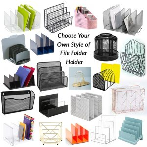 Decorative File Folders for creating your own Paper Towel Replacement Kit with the Ultimate Cloth
