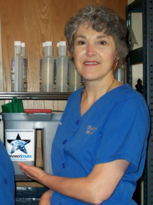 Cynthia Powers recognizing EnviroStar certification of her business